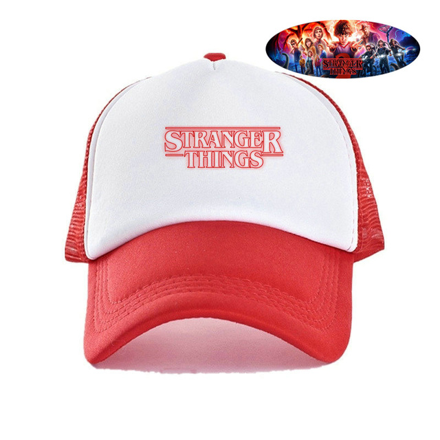 ad701ffb0 Fashion Film Stranger Things Hat Cool Summer Dustin Hats For Boy Figure  Montauk Nancy Mike Mysterious Exploration Mesh Cap YY425
