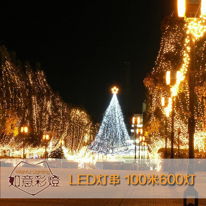 100 meters long led lantern flasher lamp set christmas tree decoration outdoor waterproof christmas lights LED lighting holiday 65cm 18cm 110cm led christmas tree lamp