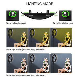 Image 4 - Dimmable Selfie LED Ring Light 14 Photography Ring Lamp with Tripod 1.6M for Beauty Makeup Photo Studio lighting Live Stream