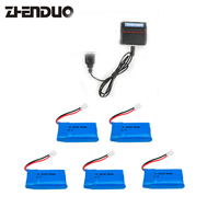 Zhenduo toy Syma X5SW X5SC Skytech M68 RC Helicopter Spare Parts X5C Battery 3.7V 850mAh With Fast Balance Charger 1 In 5