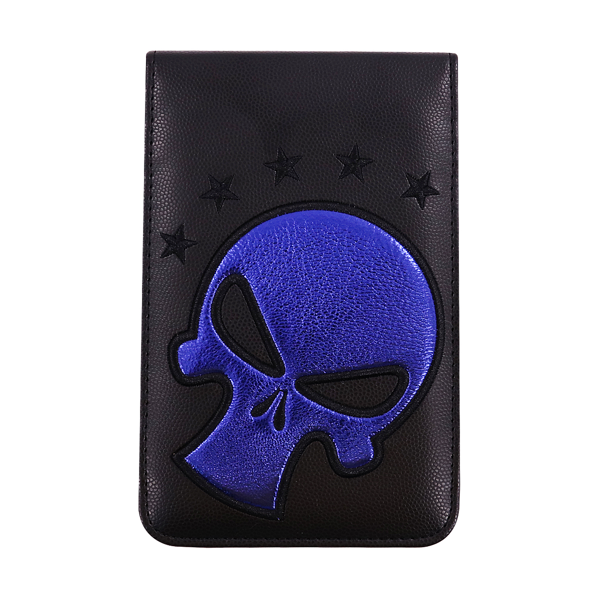 Craftsman Blue/Red Skull Leather Golf Scorecard / Yardage Book Holder Cover 6.3