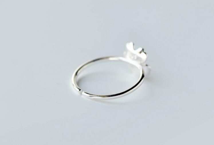 yiustar Új érkezési gyűrűk a nőknek Szép virág nyitott - Divatékszer - Fénykép 6