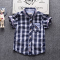 Crianças T-shirt roupas para meninos verão 2017 de manga curta embriodery colorido patten 100% algodão crianças infantil camisetas topos menino