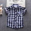 Ropa de los niños T-shirt para niños 2017 de verano de manga corta embriodery coloridos patten 100% algodón niños infantiles camisetas boy tops