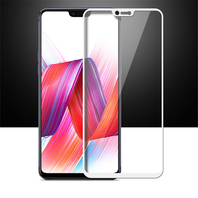 full cover Tempered Glass For oppo R15 Pro Dream Mirror Edition R15PRO R 15 Screen protective phone toughened on frame all in Phone Screen Protectors from Cellphones Telecommunications
