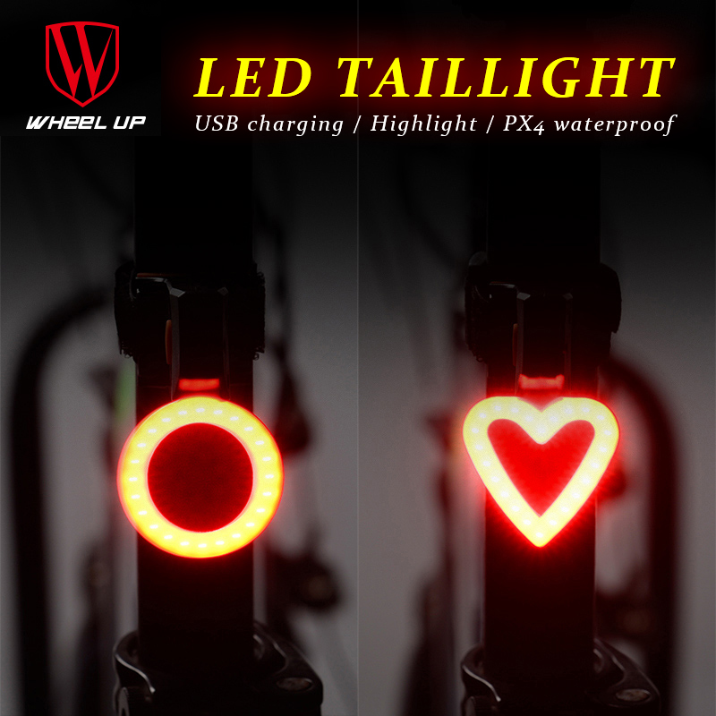 2017 Bicycle Taillights Round&Loving <font><b>Bike</b></font> Rear LED Light Usb Rechargeable IPX4 Waterproof MTB Road Cycling Lamp <font><b>Bike</b></font> <font><b>Equipments</b></font> image