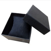 Elegant pure color Paper Present Gift Box Case For Jewelry Watch Box Black