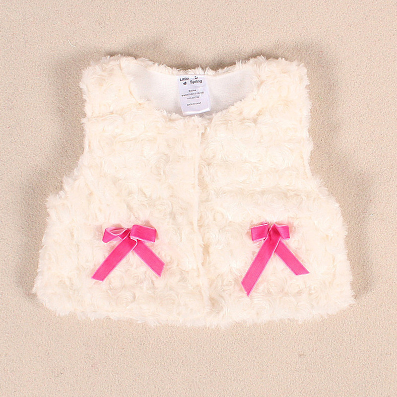 Baby Girl Jackets Spring Autumn Newborn Baby Velvet Thick Vest Children Kids Faux Fur Waistcoat Infant Baby Girls Coat