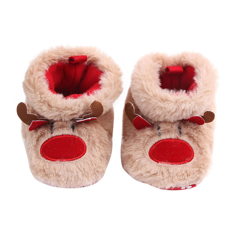 Baby Boots Shoes Christmas Baby Girls Boys Snow Boots Cute Warm Plush Baby Infant Boots Toddler Shoes