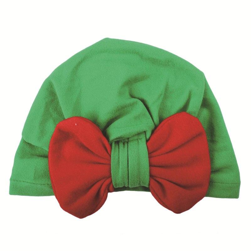 Hot Ins Christmas Baby Hat Kids Girls Toddler Turban Bow Headband Hair Band Accessories Headwear Velvet Cute Hats Winter Autumn