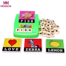 Alphabet Letters Figure Spelling Games Cards English Word Puzzle Children's Educational Literacy Fun Early Learning Toys Random(China)
