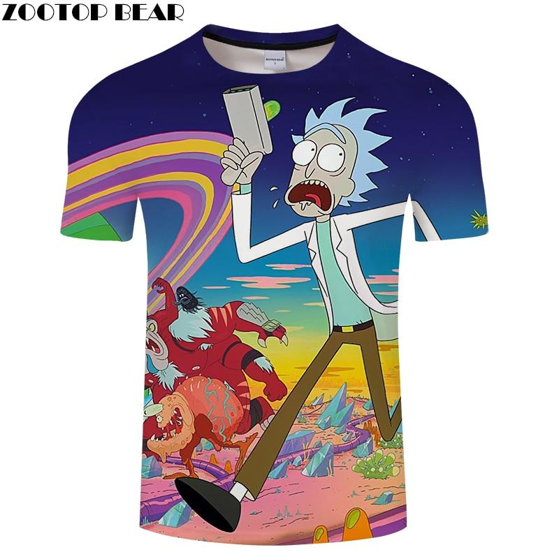 Digital Rick And Morty 3D Print t shirt Men Women tshirt Summer Cartoon Short Sleeve O-neck Tops&Tees 2018 Drop Ship ZOOTOP BEAR