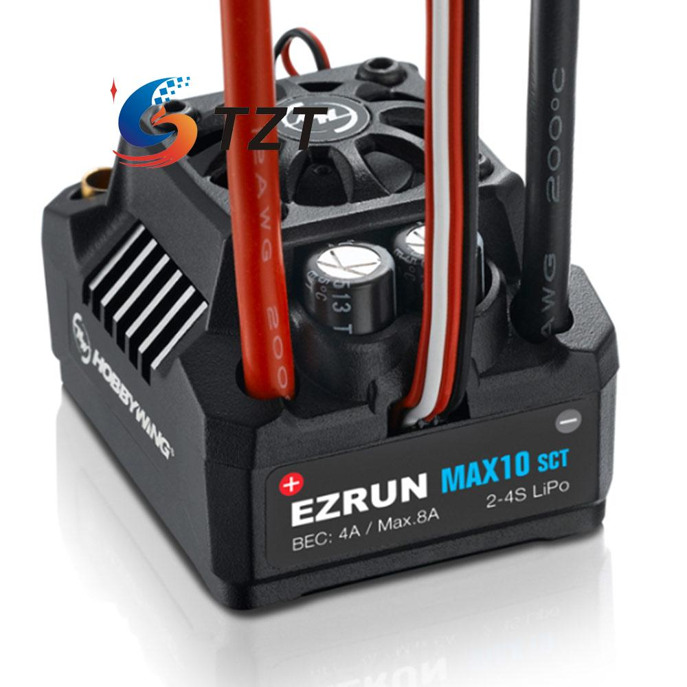 Hobbywing EZRUN Waterproof Brushless Electronic Speed Controller ESC MAX10-SCT for 1:10 Car 30a esc welding plug brushless electric speed control 4v 16v voltage
