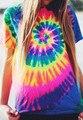 Единорог Tie Dye 3D футболка Женщины Мужчины Мода Одежда футболки Летом Стиль Печати топы тис футболки