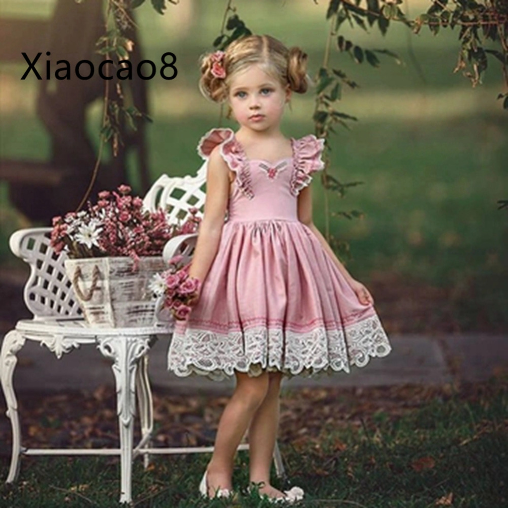 66898bd0661 2-7Y Baby Toddler Girl Dress 2019 Summer Kids Sleeveless Cute Dresses for  Girs Clothing
