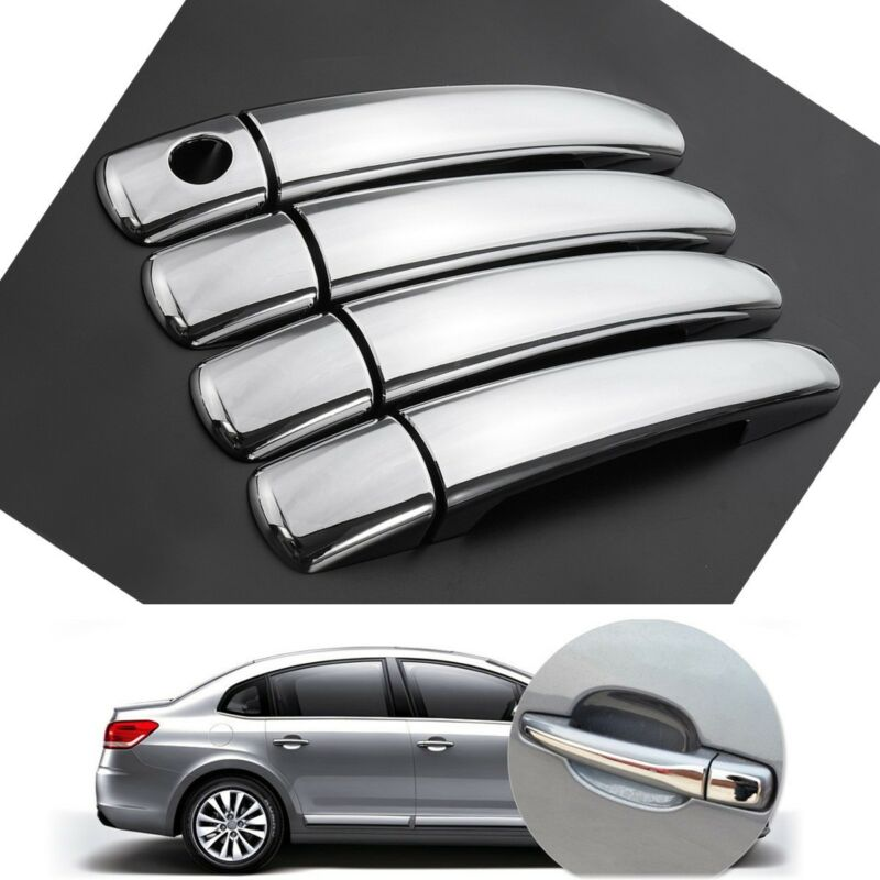 8-piece set <font><b>Handle</b></font> Cover 1 <font><b>Door</b></font> <font><b>Handle</b></font> Cover Set (8 PCS) Fit2004-2010 for Citroen C4 <font><b>Peugeot</b></font> 207 308 407 image