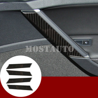 For Volkswagen VW Golf 7 MK7 Carbon Fiber Car Door Grab Handle Cover 2013 2018