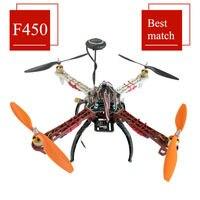 F450 450MM Quadcopter Frame+ A2212 1000KV Motor+ Simonk 30A ESC+ APM2.8 M8N+1045 Propeller Props+Receiver for F450 Quadcopter