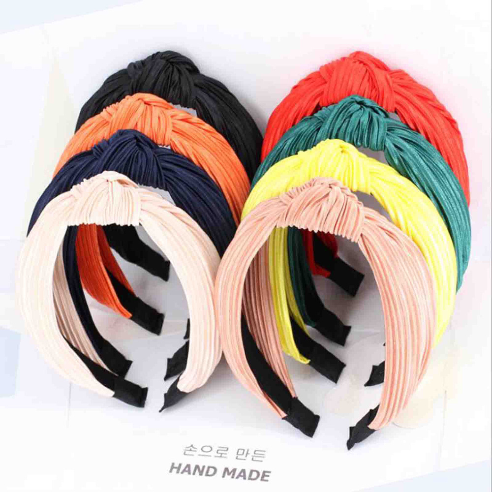 New Fashion Hair Accessories For Adult Solid High Quality Elastic Hair Band New   Headwear   Turban Wholesale