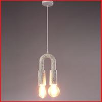 Post-moderno creativo moda resina colgante luces para dormitorio restaurante LED E27 luces decorativas N1335
