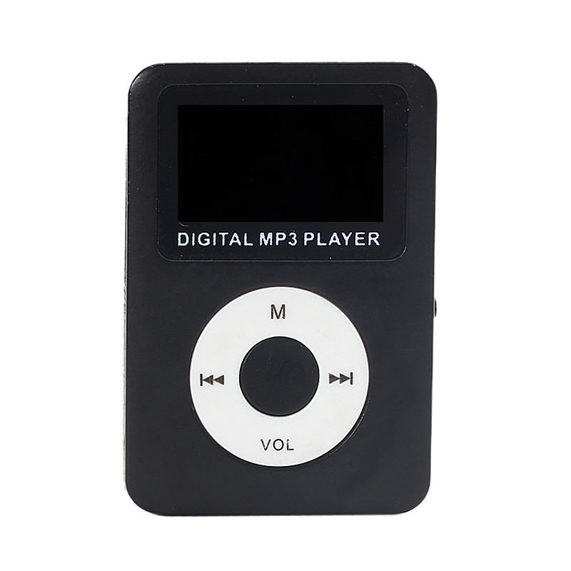 2016 New Black Digital MP3 Player Music Media Player LCD Screen Support 32GB Micro SD Card BK #ED194