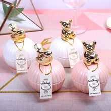 2pcs Wedding Candy Box Ceramic Wedding Favors Gift Boxes Baby Shower Party Favors Gift Bags Wedding Gift Jewelry Storage Boxes wedding gift