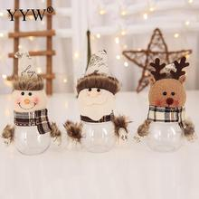 Cute Christmas Candy Box Natal Decorations Merry New Year Ornaments Gift For Home Years Decor