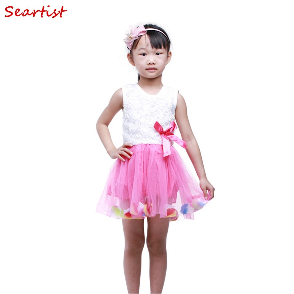 Seartist 2018 New Girls Tutu Dress Floral Summer Birthday Baptism Dresses Bebes Vestido Infantil Dresses Baby Girl Clothes 25C