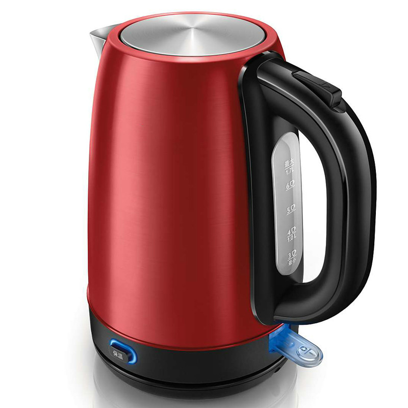 Heat kettle with a 1.7 litre of hot water kettles stainless steel