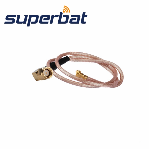 Superbat RF Coax Cable RP-SMA Plug Male Right Angle To IPX/u.fl Pigtail Cable RG178 15cm Long