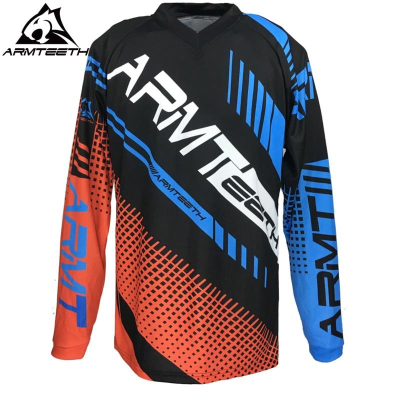 Prix pour 2017 Armteeth Motocross Off Road Jersey T-Shirt VTT DH Vêtements Vélo Cyclisme Jersey MX Taille S-4XL