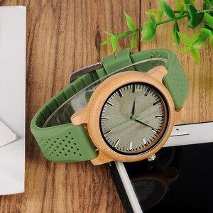 Image 3 - ボボ鳥ミニマリストの木腕時計メンズギフト腕時計女性レザーストラップ腕時計レロジオ masculino ドロップ無料