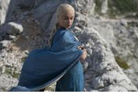 Game Of Thrones Targaryen Daenerys Cosplay Costume The Unburnt Mother Of Dragons Costume Blue Dress Female