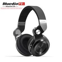 Wireless Bluetooth 4.1 Earphones & Headphones Bluedio T2+ Built-in Mic TF Card/FM Radio Stereo Foldable Headset Handsfree Call
