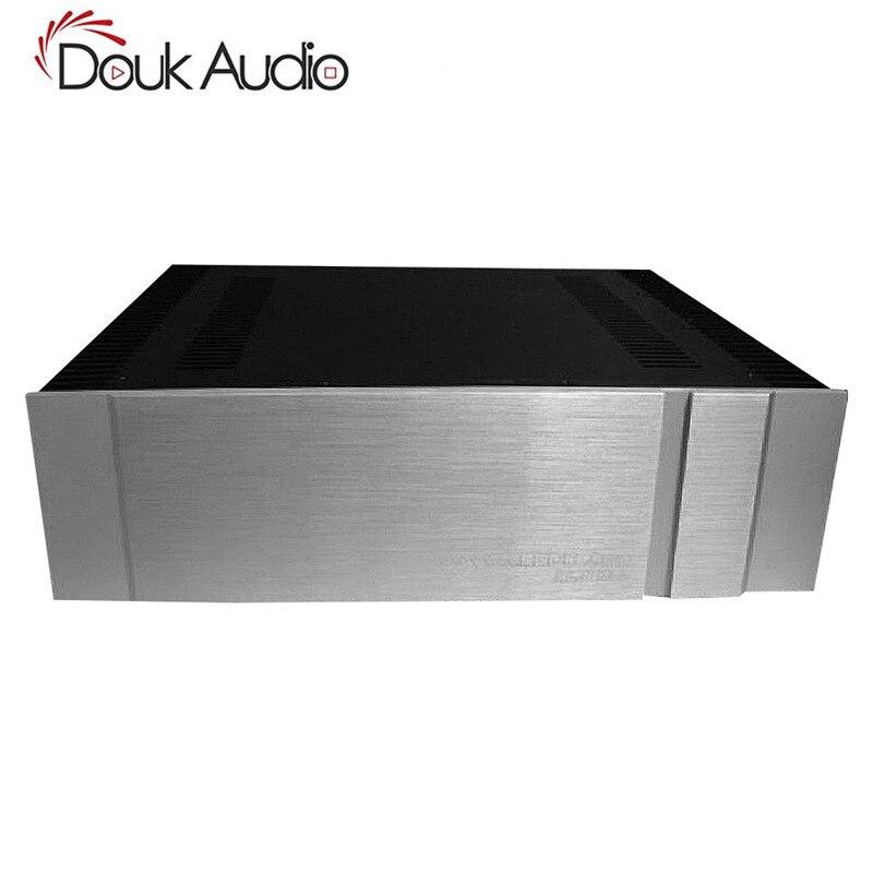 Douk Audio Blank Aluminum Chassis Class A Power Amplifier Case Enclosure W430*H150*D315mmDouk Audio Blank Aluminum Chassis Class A Power Amplifier Case Enclosure W430*H150*D315mm