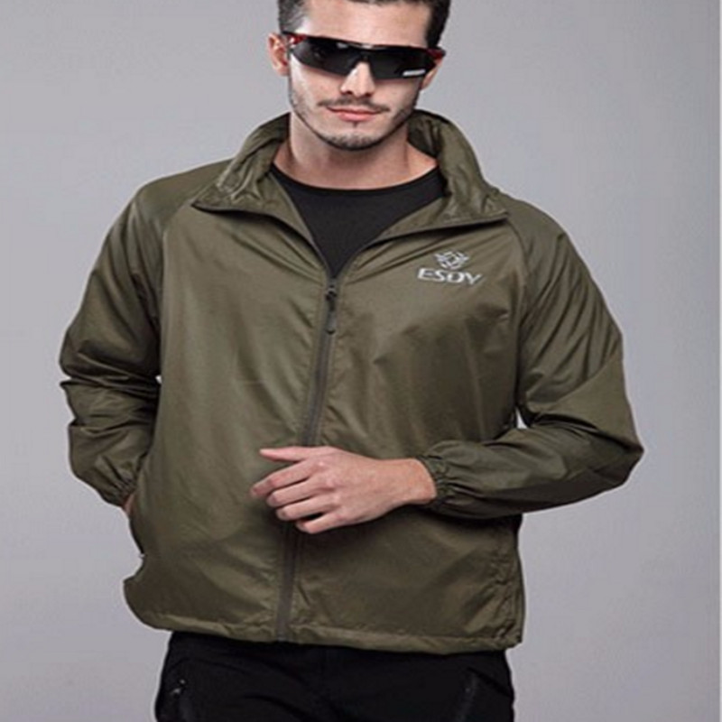 Outdoor Camouflage Skin Thin UV-proof Coat Outdoor Hiking Jacket Breathable Waterproof Windbreaker Quick dry Sunscreen Jackets