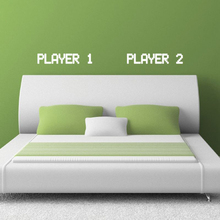 Classic Gamer Team Vinyl Wall Sticker – Player 1 Player 2 Wall Decals For Home Bedroom Wall Decoration Free Shipping