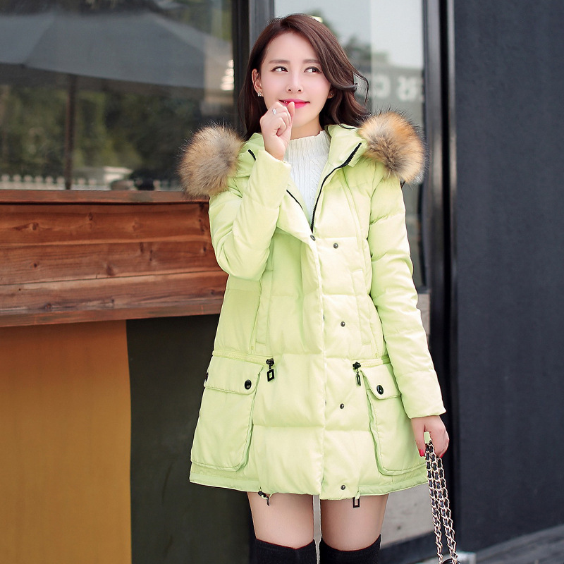 Wadded Jacket Nice New Fashion Warm Winter Jacket Women Cotton Padded Hood Imitation Fur Collar Coats And Parkas Plus Size HJ118 купить