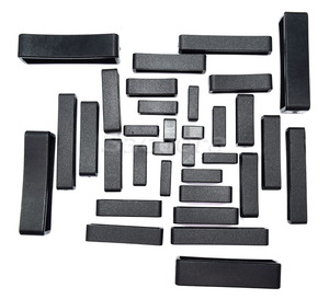 5pcs/lot Plastic Keeper Belt Loop Square Loop Leather Craft 8 Sizes to Choose from Black