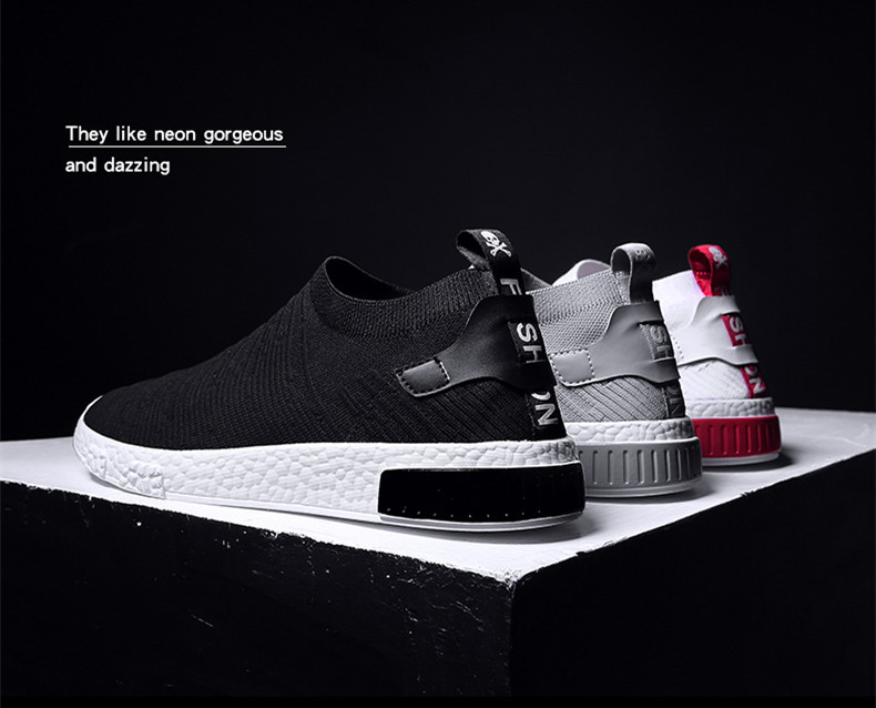 HTB1awnvzf1TBuNjy0Fjq6yjyXXal Thin Shoes For Summer White Shoes Men Sneakers Teen Shoes Without Lace Trend 2019 New Feel Socks Shoes tenis masculino chaussure
