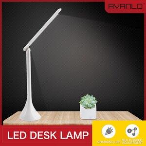 Image 1 - LEDโคมไฟตารางสัมผัสUSBแบบพับเก็บได้Dimmingโคมไฟตั้งโต๊ะLEDอ่านหนังสือนักเรียนโต๊ะทำงานLight Lampe