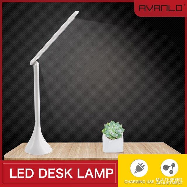 LEDโคมไฟตารางสัมผัสUSBแบบพับเก็บได้Dimmingโคมไฟตั้งโต๊ะLEDอ่านหนังสือนักเรียนโต๊ะทำงานLight Lampe