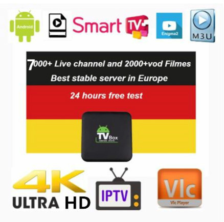 6/12 Months French IPTV VOD Arabic IPTV UK Netherland Iptv For Android M3u Enigma2 4000+Channels
