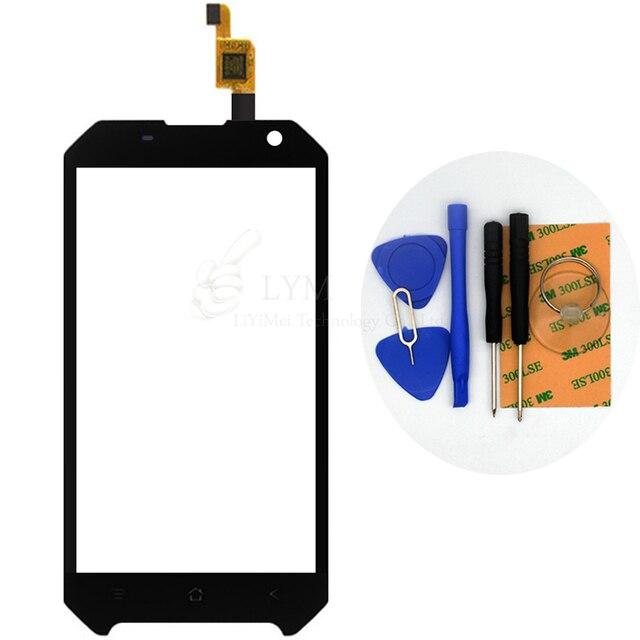 """Preto TP para Blackview BV6000 4.7 """"Digitador Da Tela de toque Do Painel de Vidro Frontal Sensor Sem LCD Substituir Parte Telefone Frete Grátis + Ferramentas"""