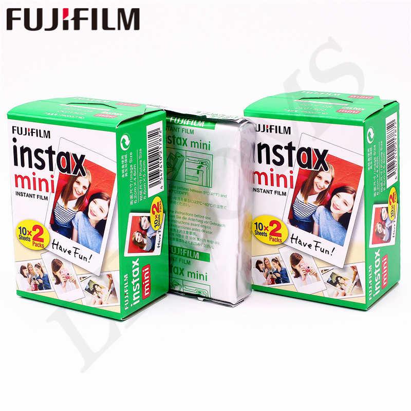 10-200 fogli Fuji Fujifilm instax mini 9 8 Bordo bianco film Colore Fims per instax macchina fotografica