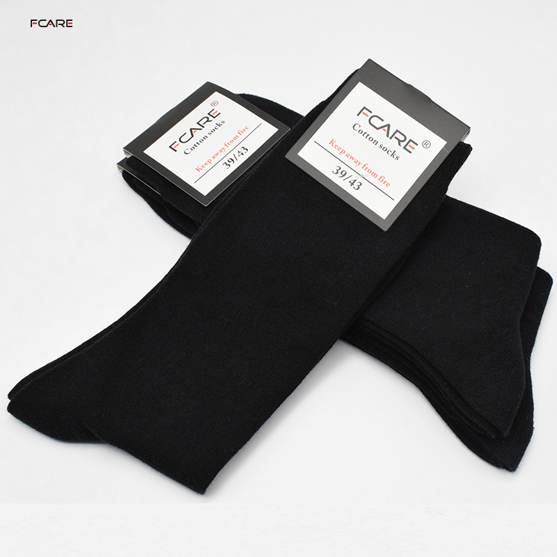Fcare cotton 16PCS=8 pairs long leg black dress elite 40, 41, 42, 43 business cotton men business wedding black mid calf   socks