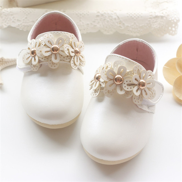 2016 Spring Autumn Baby girls shoes bebe Soft bottom PU shoes infant first walkers girls Flowers shoes Princess shoes