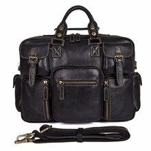 Augus Guaranteed Genuine Leather Handbag Multifunction Big Capacity Laptop Bag Classic Shoulder For Adult 7028A-1