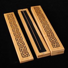 Wholesale Bamboo Carving Joss Stick Incense Box Hollow Sandalwood Burner Delicate