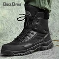 High Top Lace Up Full Grain Genuine Leather Desert Tactical Combat Boots Men's Shoes Mid-calf Sweethearts Euro Wear Rubber